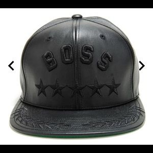 Undefeated BOSS Leather Cap 168436a37123